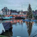 Weihnachtsmarkt in Carolinensiel - Hafenblick